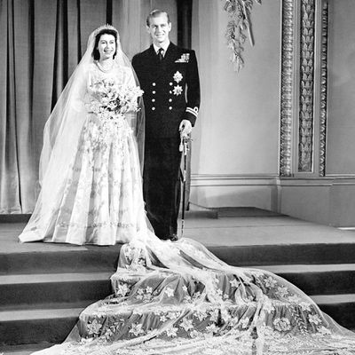 Princess Elizabeth marries Philip Mountbatten in November 1947
