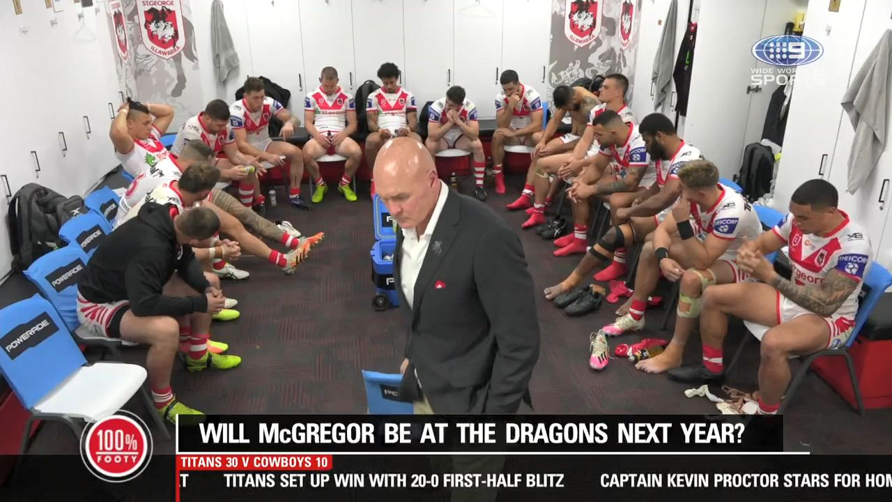 St George Illawarra Dragons coach Paul McGregor sacked