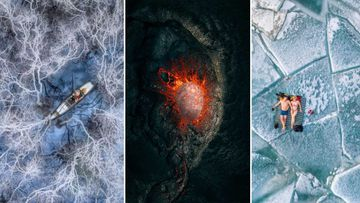 An exhibition 'Above Us Only Sky' will showcase the overall winner and the eight category winners of the most important international contest of aerial photography.