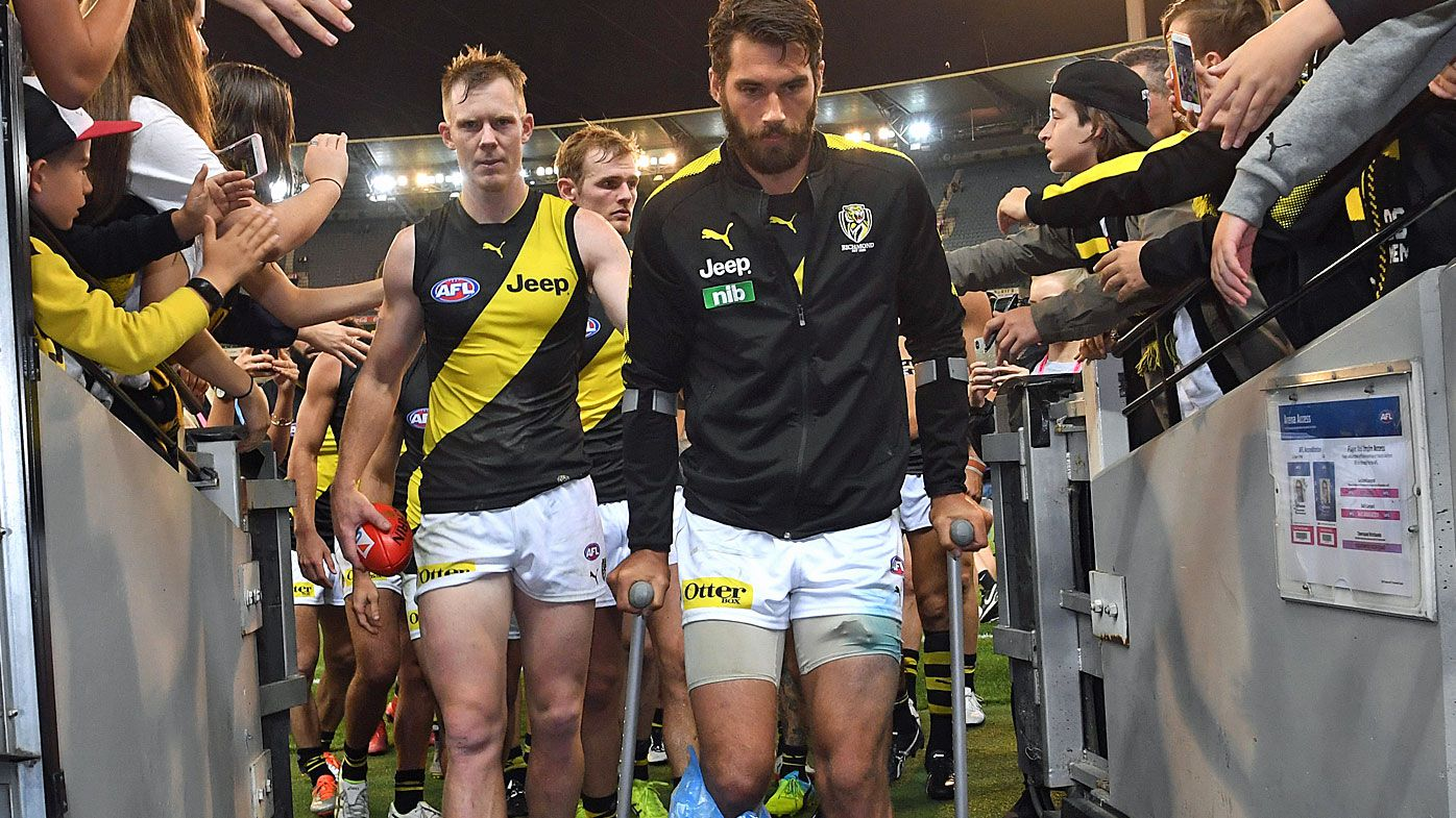 Jack Riewoldt follows Alex Rance into the sheds