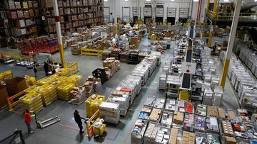 An Amazon distribution centre in the United States.