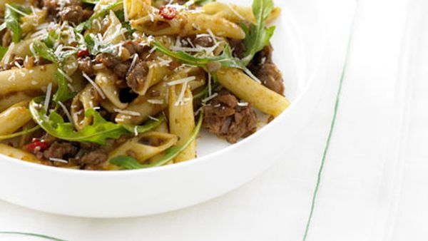 Sausage and rocket penne