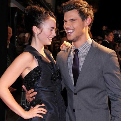 Lily Collins and Taylor Lautner in 2011.
