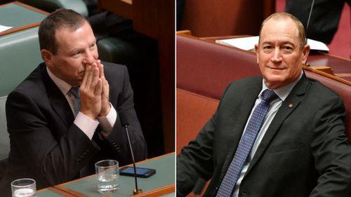 Moreton MP Graham Perrett (left) believes Senator Fraser Anning needs a reality check.