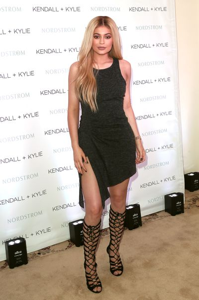 Kylie Jenner at the Kendall + Kylie collection launch at Nordstrom in Los Angeles, March, 2016<br />