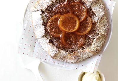 Candied orange crostata