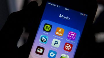 Streaming service Spotify has been hit with a copyright lawsuit. (Getty)