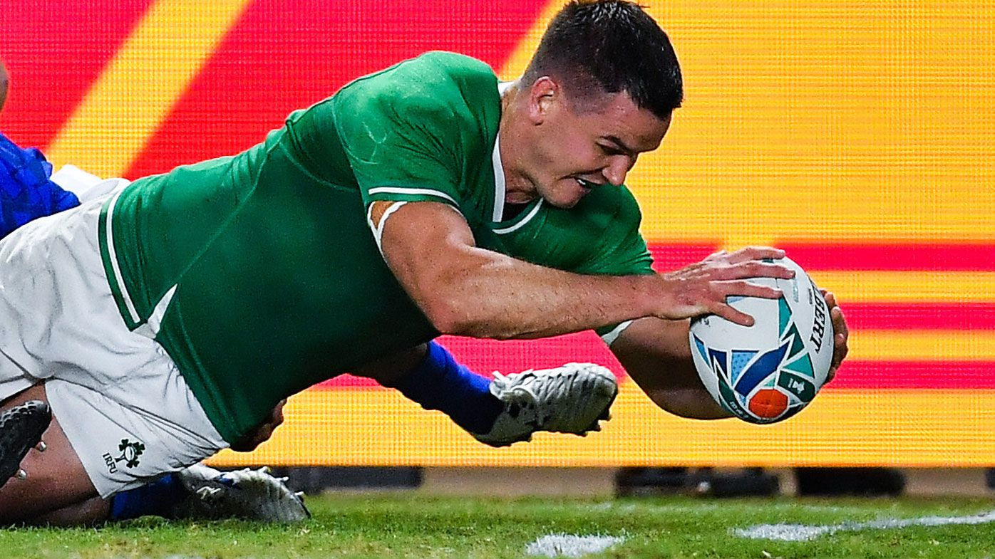 Ireland cruise into Rugby World Cup quarter-finals by smashing Samoa