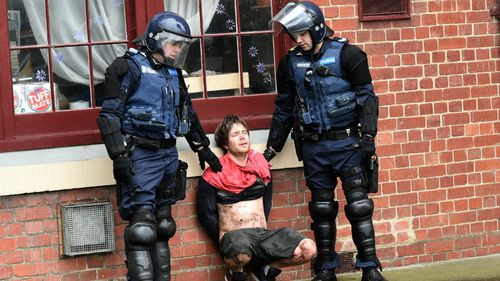 Police made seven arrests. (AAP)