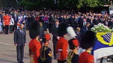 Both Harry and William walked behind their mother's coffin in the funeral procession in 1997.