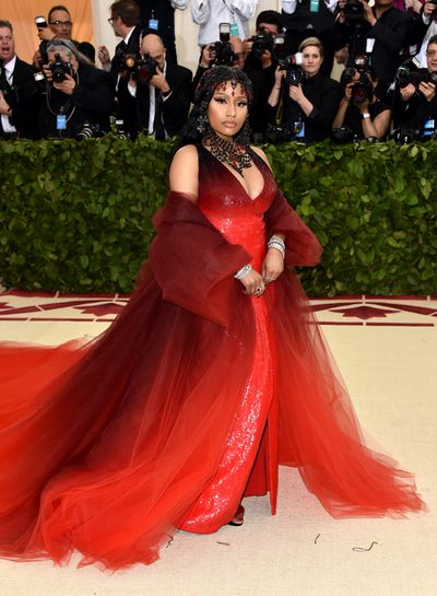 Singer Nicky Minaj inOscar de la Renta