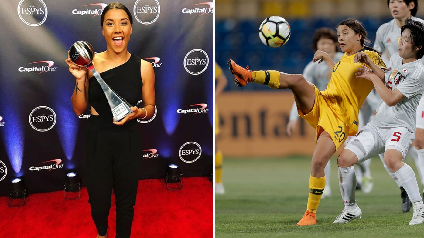 Football: Sam Kerr takes out top honours at 2018 ESPY awards