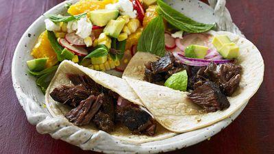 Beef cheek tacos