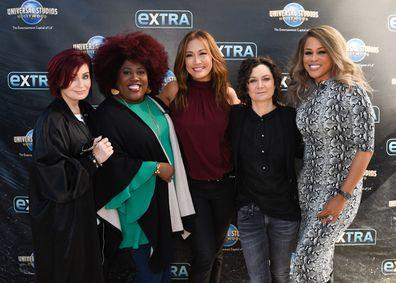 Sharon Osbourne, Sheryl Underwood, Carrie Ann Inaba, Sara Gilbert and Eve.
