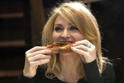 Madonna's sinewy arms are actually the result of a full fat pizza diet, didn't you know?