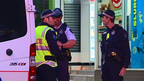 Officers at the Fortitude Valley Police Beat this morning. (9NEWS)