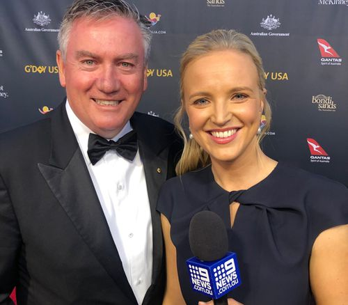 Eddie McGuire joked he was scouting the next AFL star from the US.