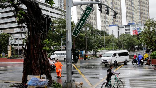 Philippine state weather agency PAGASA downgraded the domestic threat level, but warned the danger was far from over