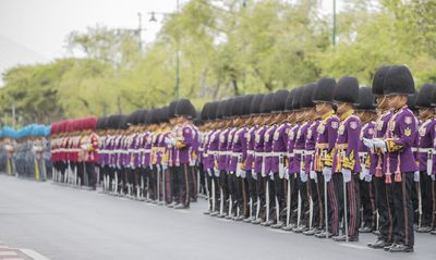 A parade to the Royal Palace was held, in lead up to the Coronation of the King of Thailand, Rama X, over the weekend.