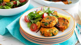 Sweet potato and lentil patties