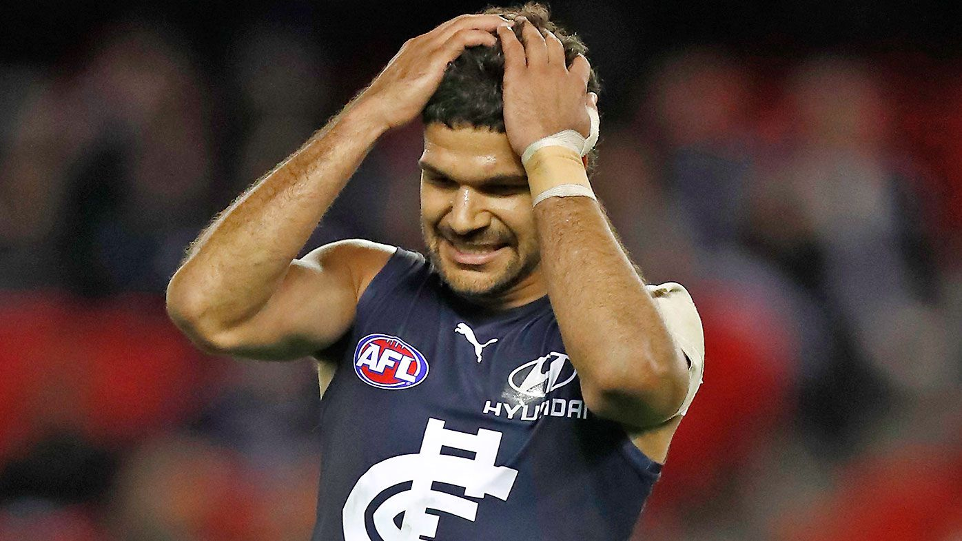 'He has given up at times': AFL greats' damning assessment of wantaway Blues youngster Sam Petrevski-Seton