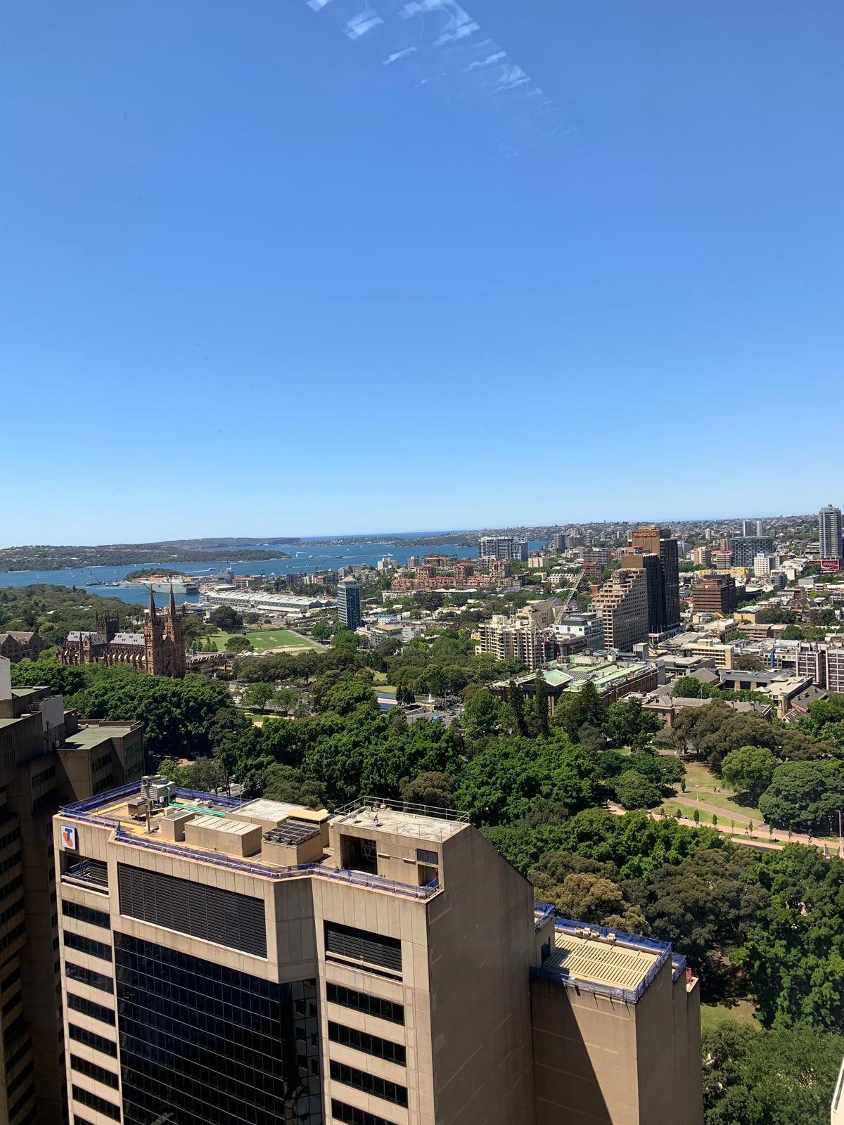 Sydney's Pitt Street on a clear sunny day.