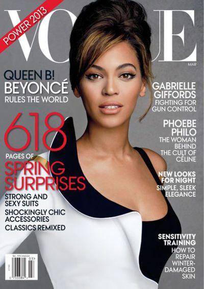Beyoncé on the cover of&nbsp;<em>US Vogue </em>March 2013
