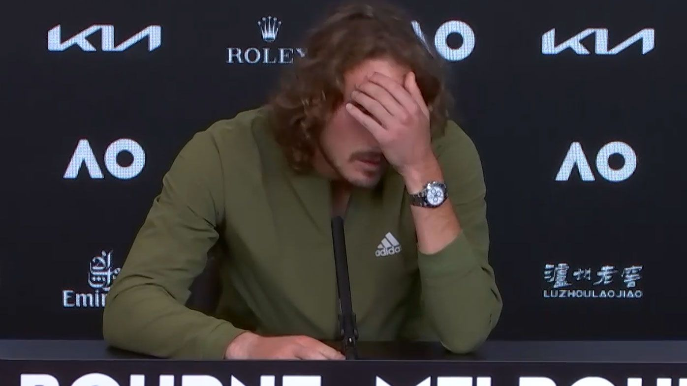 'I'm not a betting website': Shattered Tsitsipas bristles at media after crashing out of Australian Open