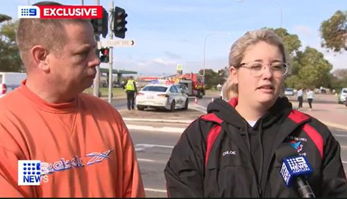 Chloe says she was tailgated, threatened and then rammed by an out of control drunk driver in Adelaide.