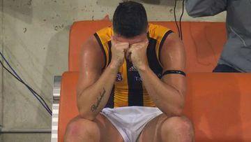 Hawks star reduced to tears after on-field heartbreak