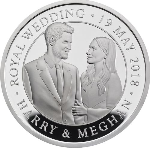 The Royal Mint has released a new coin to commemorate Prince Harry and Meghan Markle's wedding. (PA/AAP)