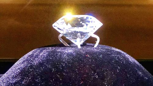 The Jacob Diamond is one of the biggest polished diamonds in the world.