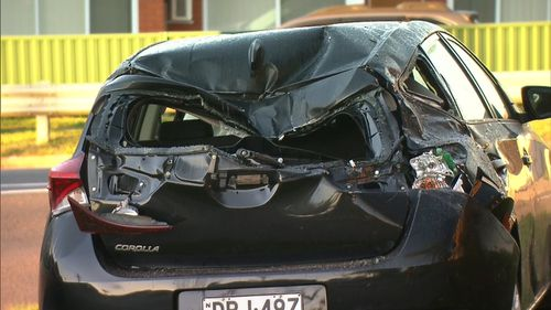 Bass Hill crash 190709 allegedly drunk driver smashes into new Toyota Corolla charged crime news Sydney NSW