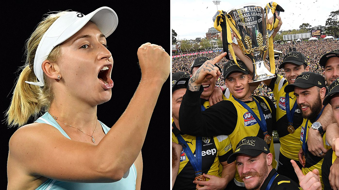 AFL Footy Show reveal Richmond Tigers beef with Daria Gavrilova over 'disrespectful' trophy photo