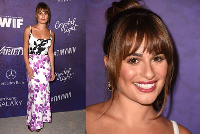 <i>Glee</i>'s Lea Michele in floral.