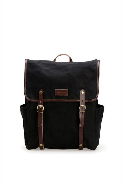"""<a href=""""https://www.countryroad.com.au/shop/man/accessories/bags/60207439/Irwin-Backpack.html"""" target=""""_blank"""">Country Road Irwin BackPack, $179.</a>"""