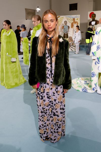 Lady Amelia Windsor at London Fashion Week, September 2017