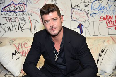Robin Thicke Visits Music Choice at Music Choice on May 14, 2019 in New York City. (Photo by Theo Wargo/Getty Images)