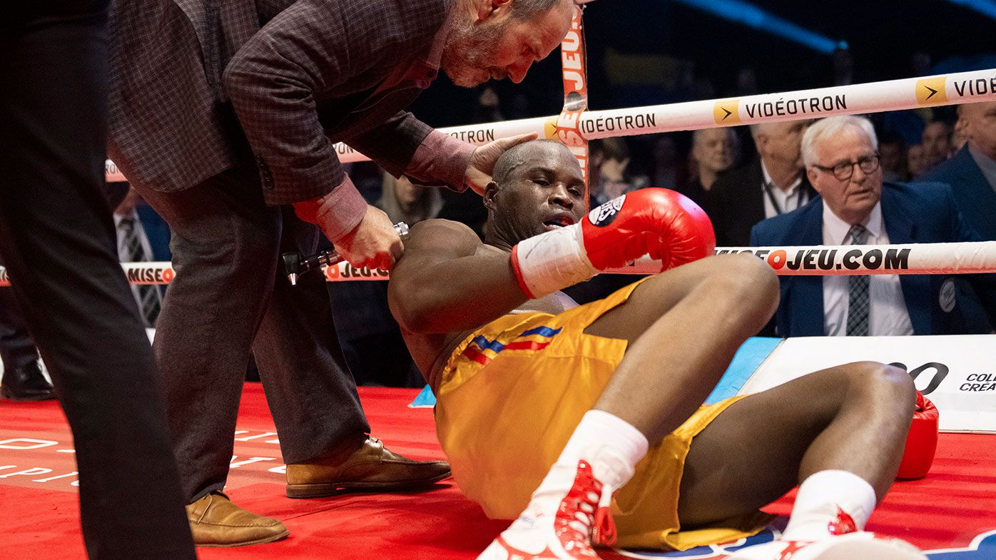 Adonis Stevenson immediately after his loss to Oleksandr Gvozdyk.