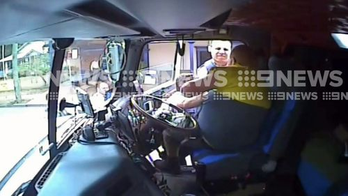 The dashcam also shows the moment Rodney Johnson is arrested. Picture: 9NEWS