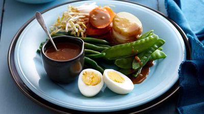 "Recipe:&nbsp;<a href=""http://kitchen.nine.com.au/2016/05/16/16/10/steamed-vegetable-gado-gado"" target=""_top"">Steamed vegetable gado gado</a>"