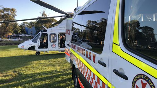 A 50kg tent fell on the child on Wednesday afternoon. (NSW Ambulance)