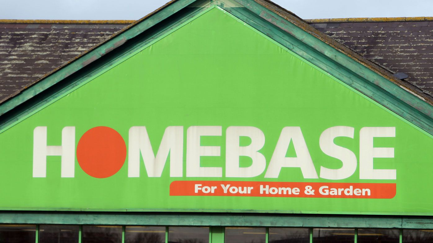 Homebase store sign, as nearly 2,000 Homebase staff could be axed after the DIY chain's Australian owner launched a review of the business that may see up to 40 stores shut. (AAP)