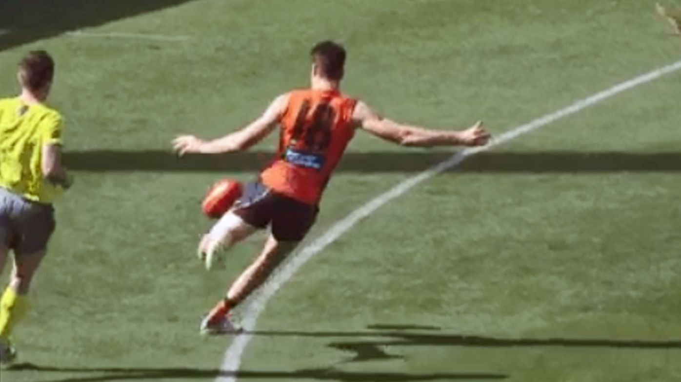 GWS Giants hang on for AFL win over Fremantle Dockers in windy conditions