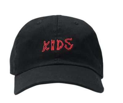"<a href=""https://thekidssupply.com/products/kids-embroidered-hat-ink"" target=""_blank"">Kids Embroidered Hat in Black Washed Cotton Twill, $35 US.</a>"