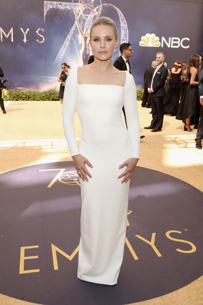 <p>Kristen Bell in Solace London at the 70th Emmy Awards</p>