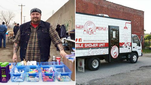 Missouri man converts truck into mobile shower for the homeless
