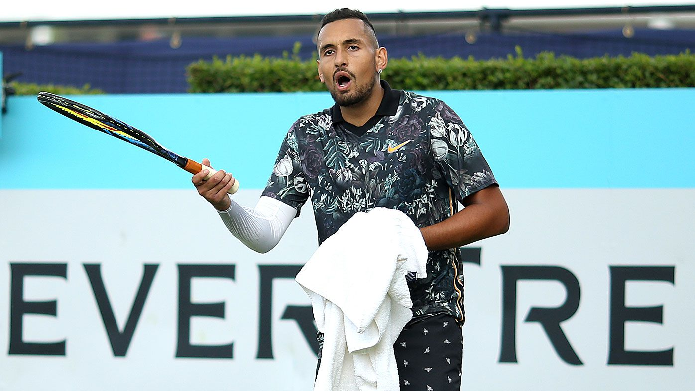 'Your hat looks ridiculous': Nick Kyrgios explodes again at Queen's