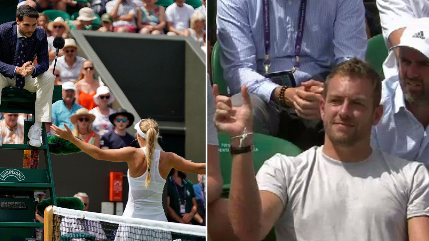 Caroline Wozniacki loses in Wimbledon third round amid Hawkeye controversy