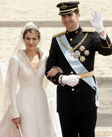 Queen Letizia and King Felipe on their wedding day